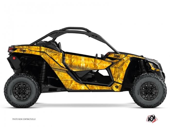 Can Am Maverick X3 Utv Camo Graphic Kit Yellow Kutvek