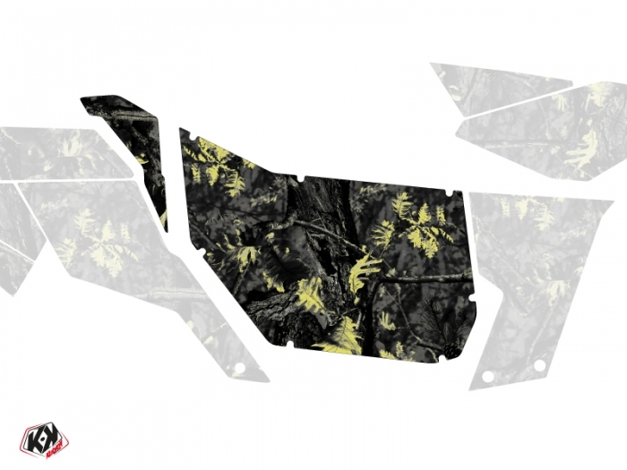 Graphic Kit Doors Suicide Pro Armor Camo Can Am Maverick 2012-2017 Black Yellow