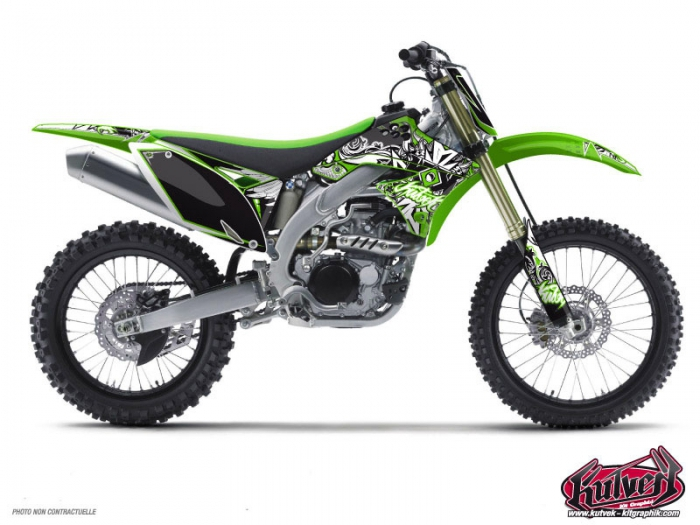 Kawasaki 250 KXF Dirt Bike Demon Graphic Kit - Kutvek Kit Graphik