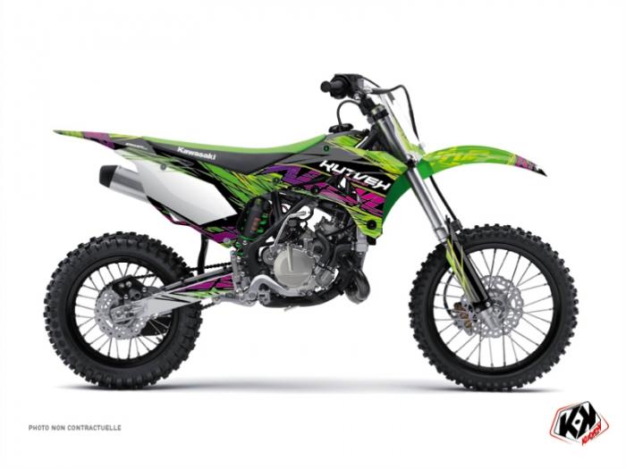 Kawasaki 110 KLX Dirt Bike Eraser Graphic Kit Green - Kutvek Kit Graphik