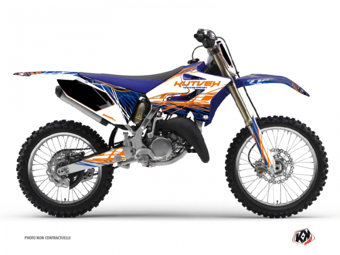 Kit Déco Moto Cross Eraser Yamaha 125 YZ Bleu Orange