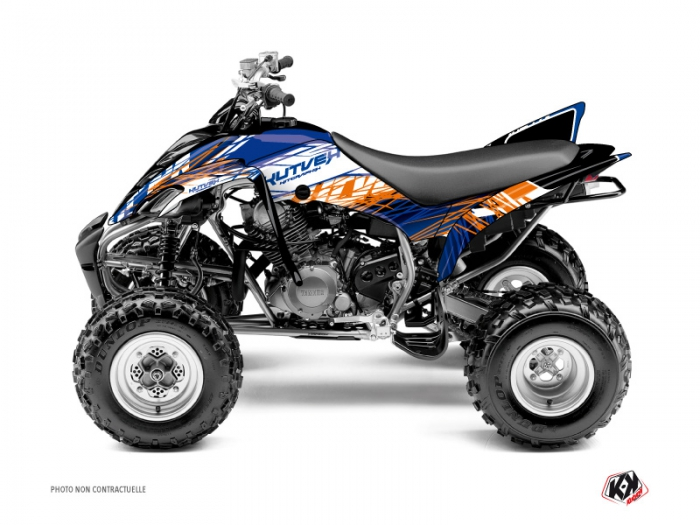Yamaha 350 Raptor ATV Eraser Graphic Kit Blue Orange - Kutvek Kit ...