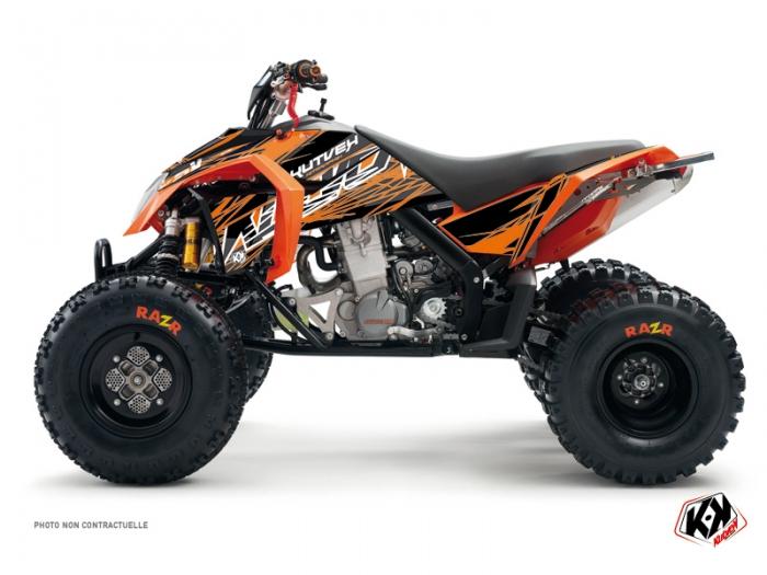 KTM 450-525 SX ATV Eraser Graphic Kit Orange Black - Kutvek Kit Graphik
