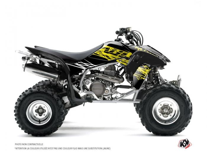 Honda 450 TRX ATV Eraser Fluo Graphic Kit Yellow - Kutvek ...