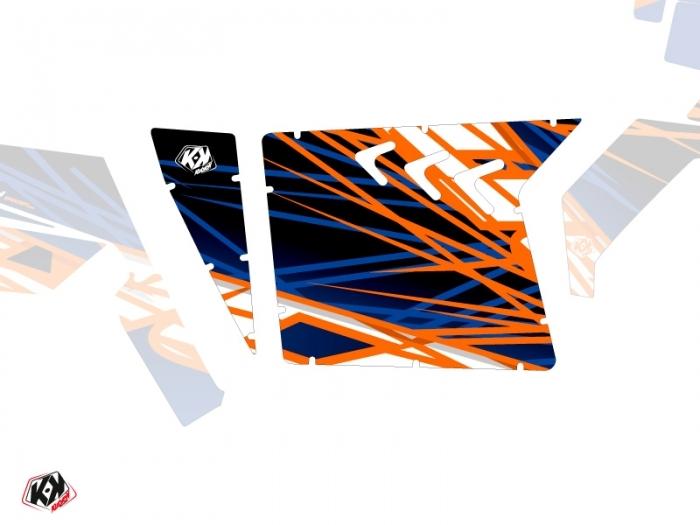 Graphic Kit Doors Suicide XRW Eraser UTV Polaris RZR 570/800/900 2008-2014 Blue Orange