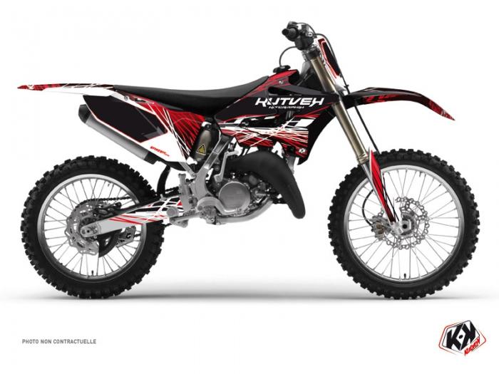 Kit Déco Moto Cross Eraser Yamaha 125 YZ Rouge Blanc