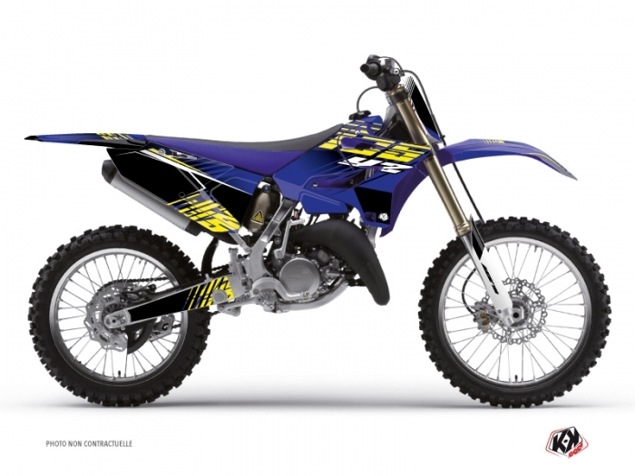 Yamaha 125 YZ Dirt Bike Flow Graphic Kit Yellow
