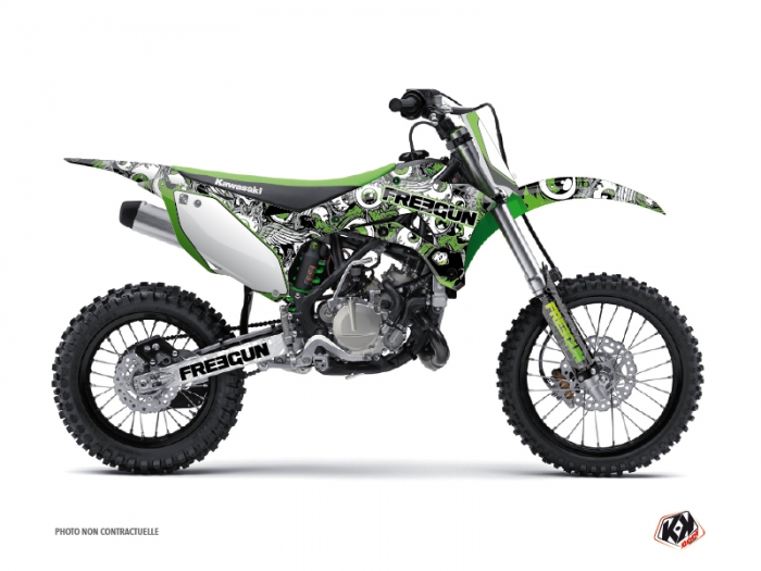 Kawasaki 110 KLX Dirt Bike Freegun Eyed Graphic Kit Green - Kutvek ...