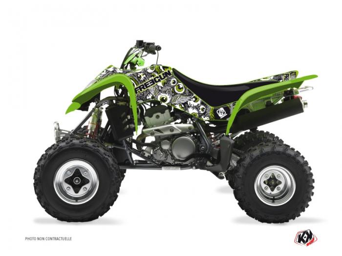 Kawasaki 400 KFX ATV Freegun Eyed Graphic Kit Green