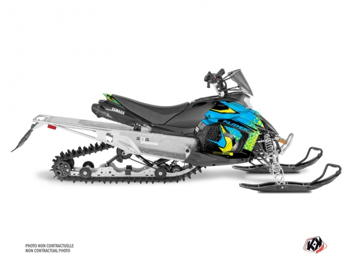 Yamaha PHAZER Snowmobile Gage Graphic Kit Blue Yellow