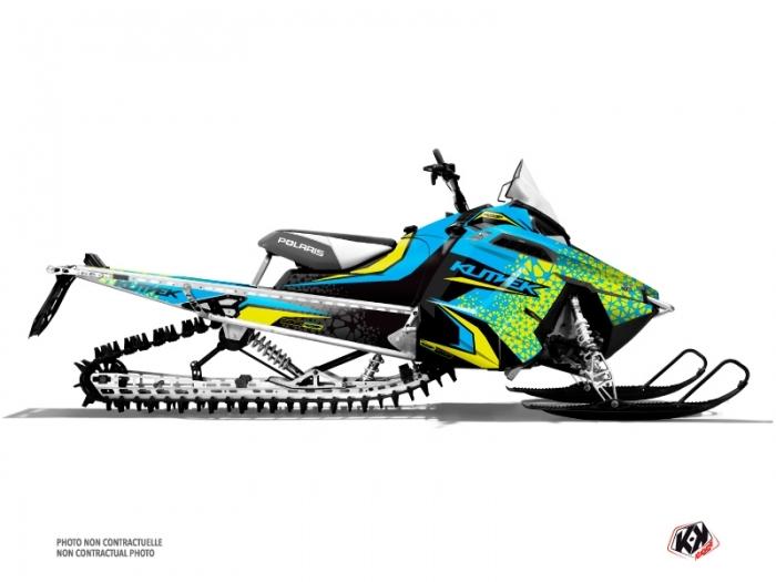 Polaris PRO RIDE Snowmobile Gage Graphic Kit Blue Yellow