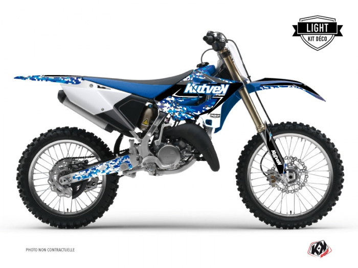 Kit Déco Moto Cross Predator Yamaha 125 YZ Bleu LIGHT