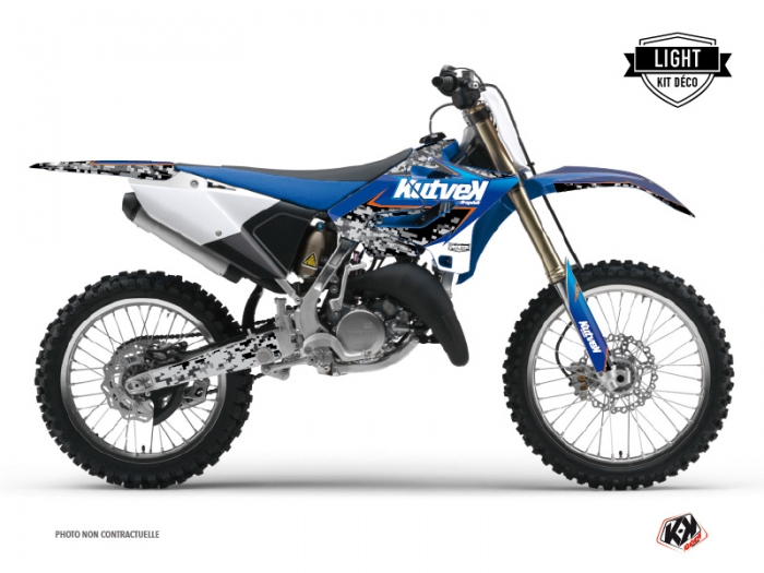 Yamaha 125 YZ Dirt Bike Predator Graphic Kit Black Blue LIGHT
