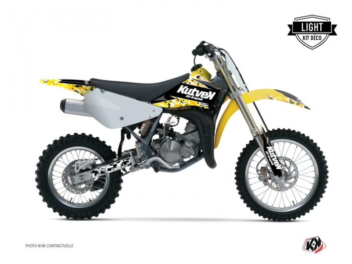 Suzuki 85 RM Dirt Bike Predator Graphic Kit Black Yellow LIGHT ...