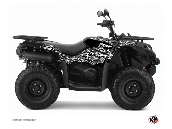cf moto cforce 520 s atv predator graphic kit black kutvek kit graphik. Black Bedroom Furniture Sets. Home Design Ideas