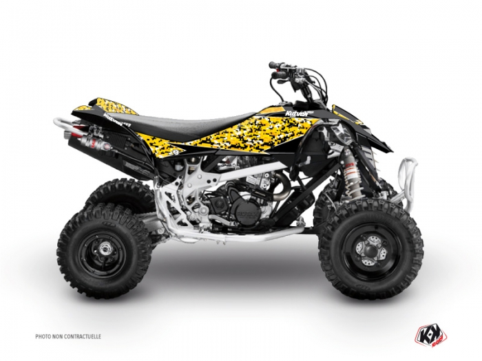 Can Am DS 90 ATV Predator Graphic Kit Black Yellow