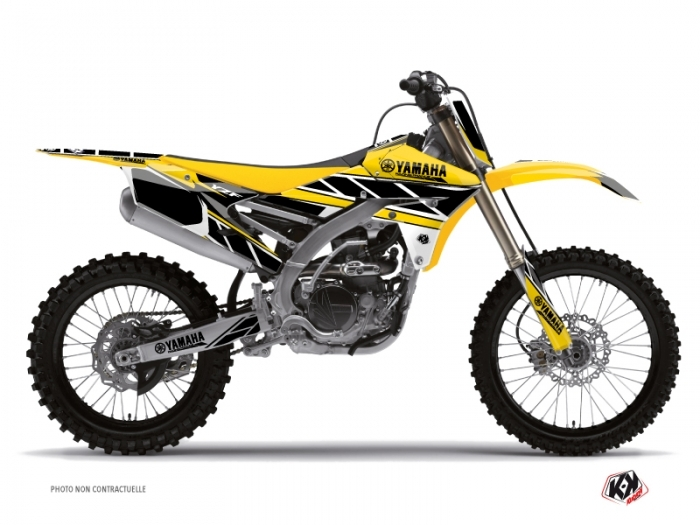 yamaha 250 yzf dirt bike replica graphic kit yellow kutvek kit graphik. Black Bedroom Furniture Sets. Home Design Ideas