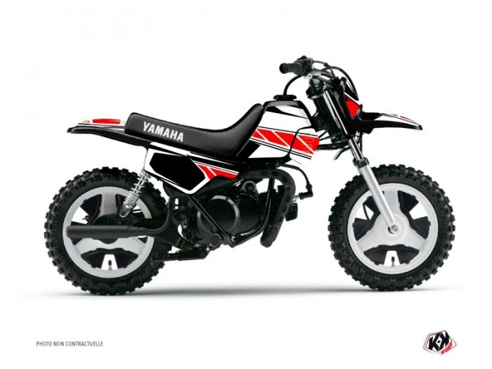 Yamaha PW 50 Dirt Bike Replica Graphic Kit Red - Kutvek Kit Graphik