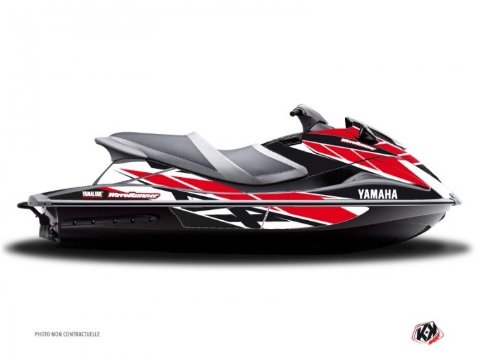 Yamaha VXR-VXS Jet-Ski Replica Graphic Kit Red - Kutvek Kit Graphik