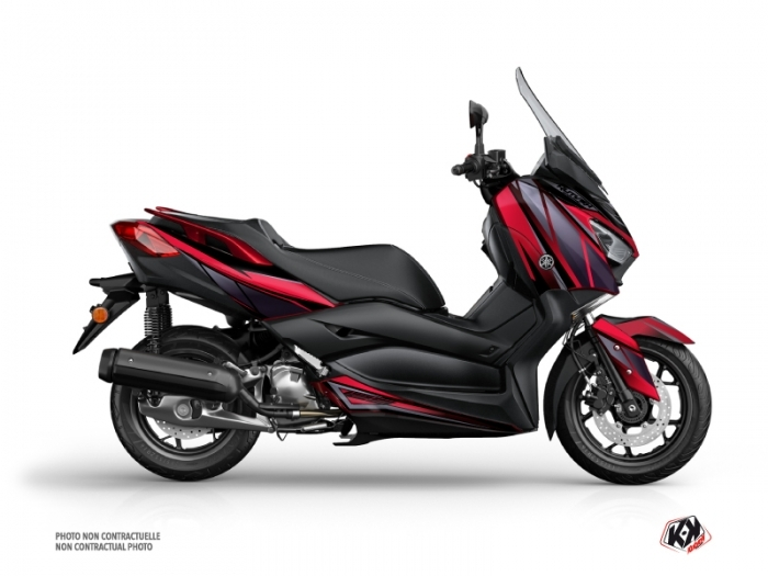 Kit Déco Maxiscooter Replica Yamaha XMAX 125 Rouge Noir