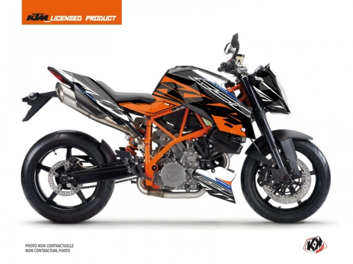 KTM Super Duke 990 R Street Bike Spring Graphic Kit White Orange