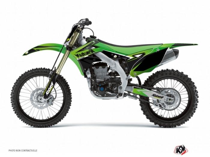 Kawasaki 125 Kx Dirt Bike Stage Graphic Kit Green Kutvek Kit Graphik