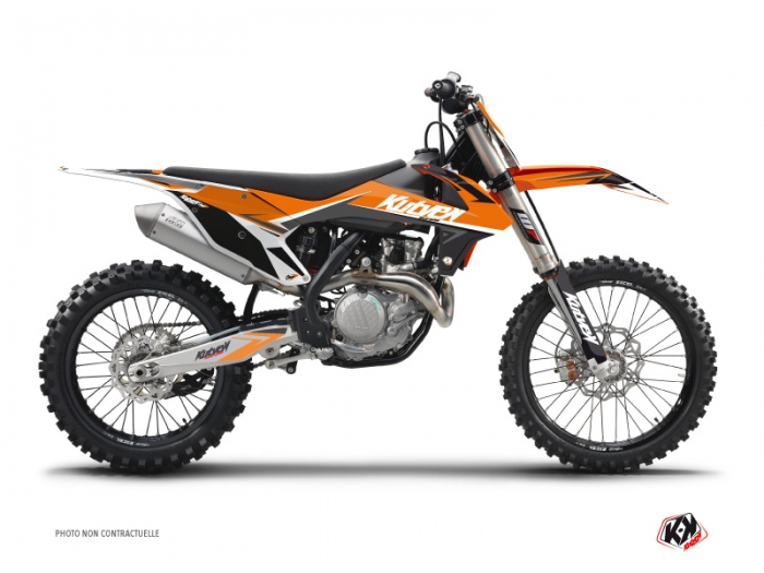 kit graphique moto cross stage ktm 125 sx orange kutvek kit graphik. Black Bedroom Furniture Sets. Home Design Ideas