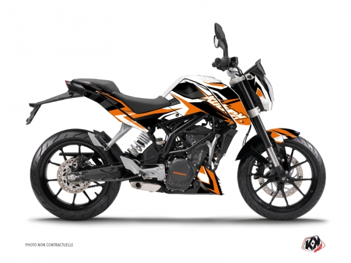 ktm duke 125 street bike stage graphic kit orange kutvek kit graphik. Black Bedroom Furniture Sets. Home Design Ideas