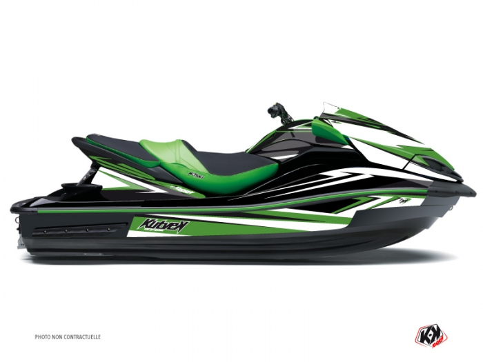 Kawasaki ULTRA 300-310 Jet-Ski Stage Graphic Kit Green - Kutvek Kit ...
