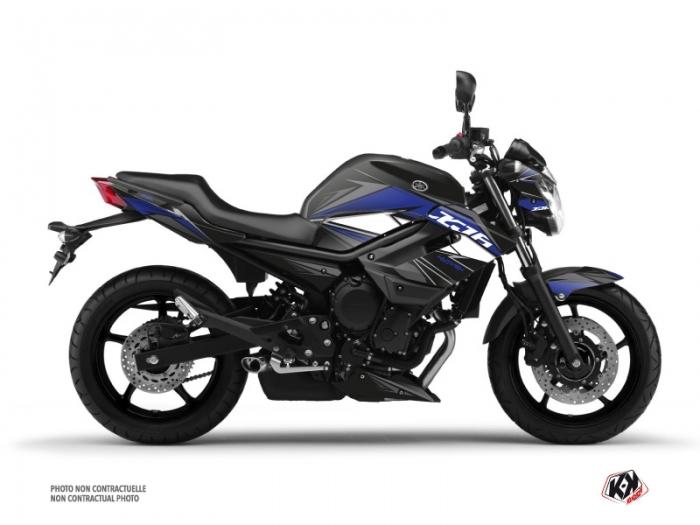 Kit Déco Moto Steel Yamaha XJ6 Noir Bleu