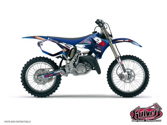 Yamaha 125 YZ Dirt Bike Replica Team 2b Graphic Kit 2011