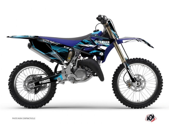 Yamaha 125 YZ Dirt Bike Techno Graphic Kit Blue