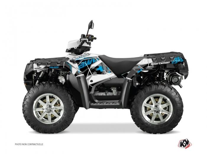 Polaris 550-850-1000 Sportsman Forest ATV Visor Graphic Kit Blue