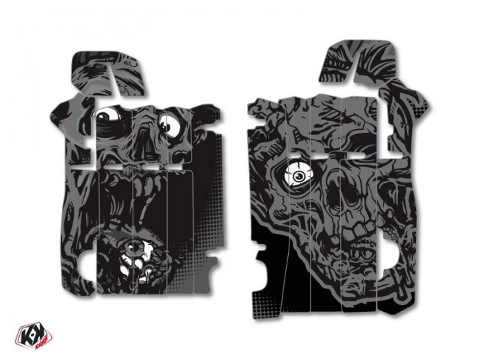 Kit Déco Grilles de radiateur Zombies Dark Honda 450 CRF 2013-2016 Noir