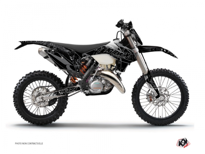 Ktm 2019 Exc >> KTM EXC-EXCF Dirt Bike Zombies Dark Graphic Kit Black - Kutvek Kit Graphik
