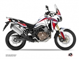 Kit Déco Moto fighter Honda Africa Twin CRF 1000 L Rouge Bleu