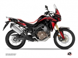 Honda Africa Twin CRF 1000 L Street Bike fighter Graphic Kit Red Black