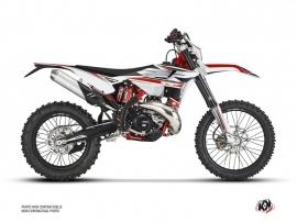 Beta 125 RR 2-stroke Dirt Bike FIRENZE Graphic Kit White Red Black