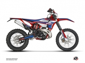Beta 200 RR 2-stroke Dirt Bike FIRENZE Graphic Kit Red Blue