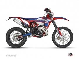Beta 300 RR 2-stroke Dirt Bike FIRENZE Graphic Kit Red Blue