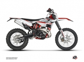Beta 430 RR 4-stroke Dirt Bike FIRENZE Graphic Kit White Red Black