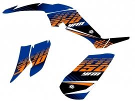 Yamaha 350 Raptor ATV Flow Graphic Kit Orange