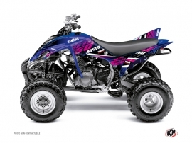 Yamaha 350 Raptor ATV Flow Graphic Kit Pink