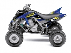 Yamaha 700 Raptor ATV Flow Graphic Kit Yellow