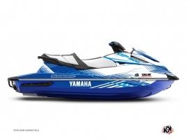 Yamaha GP 1800 Jet-Ski Flow Graphic Kit White Blue