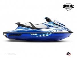 Yamaha GP 1800 Jet-Ski Flow Graphic Kit White Blue LIGHT