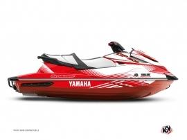 Yamaha GP 1800 Jet-Ski Flow Graphic Kit White Red