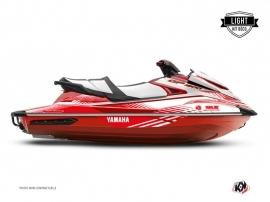 Yamaha GP 1800 Jet-Ski Flow Graphic Kit White Red LIGHT