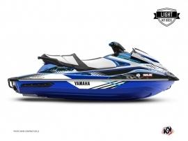 Yamaha GP 1800 Jet-Ski Flow Graphic Kit Blue LIGHT