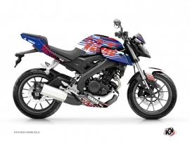 Yamaha MT 125 Street Bike Flow Graphic Kit Red